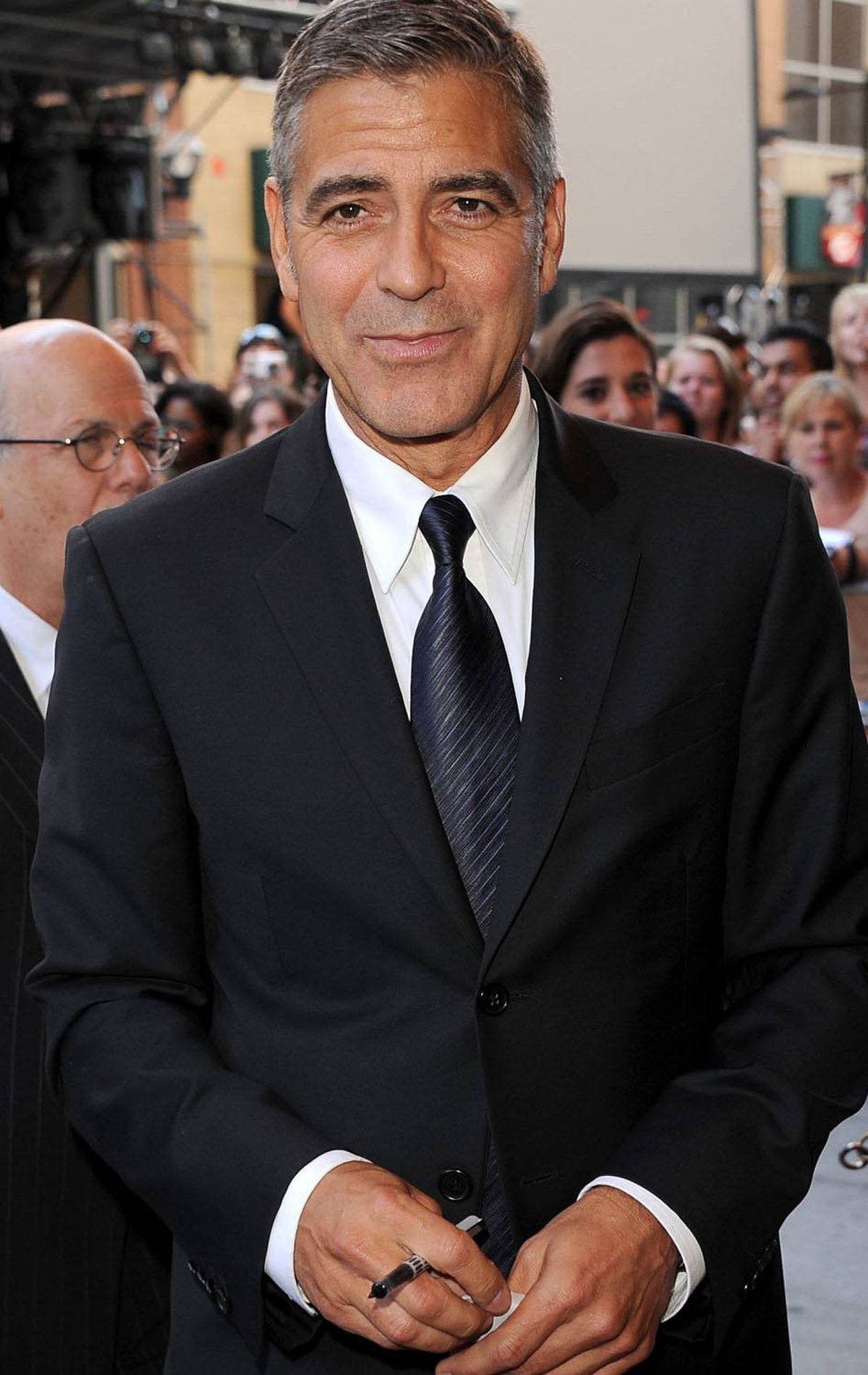 "Actor George Clooney arrives at ""The Descendents"" Premiere at The Elgin during the 2011 Toronto International Film Festival on September 10, 2011 in Toronto, Canada."