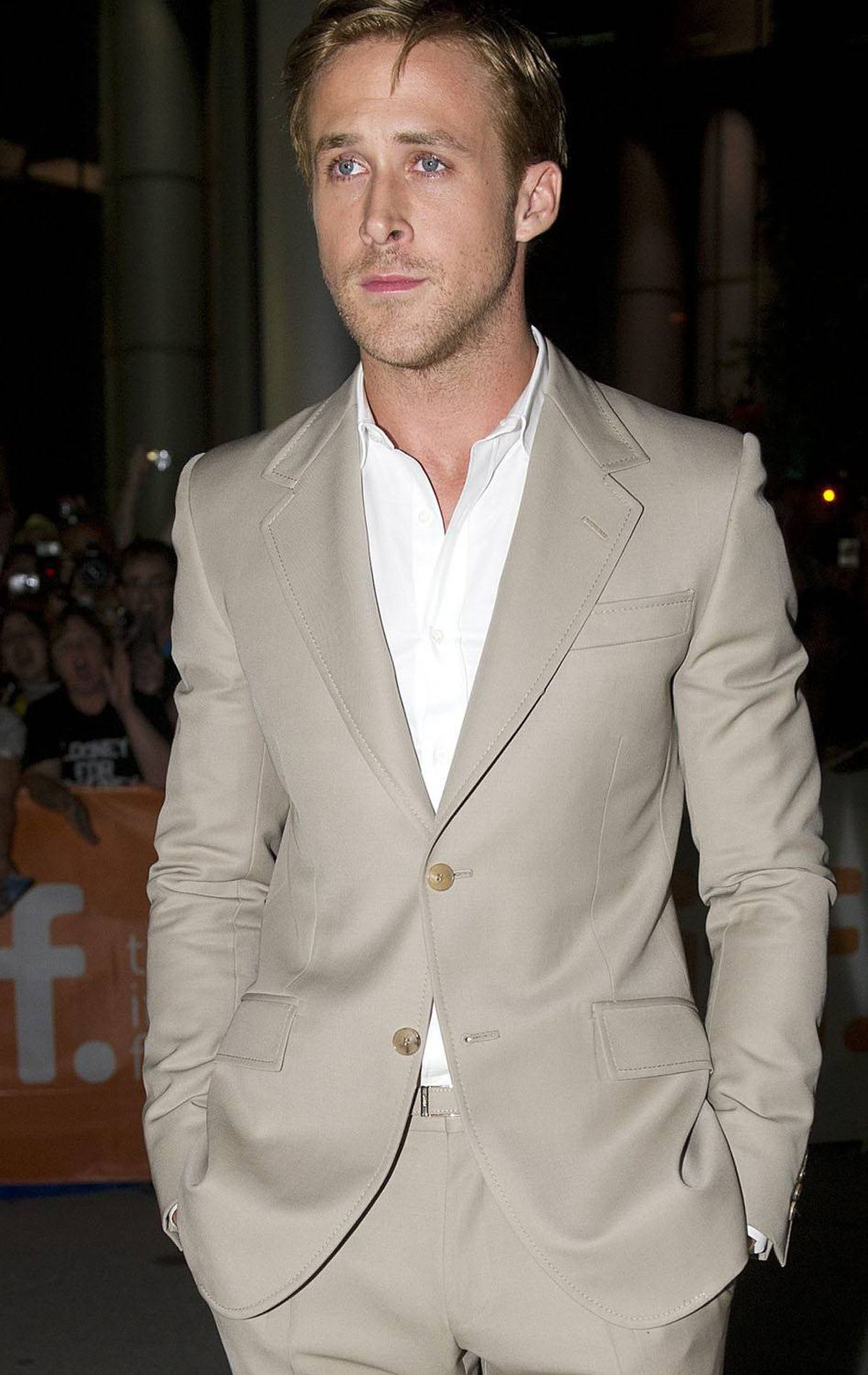 "Actor Ryan Gosling poses on the red carpet before the screening of ""The Ides of March"" at the Toronto International Film Festival on Friday, Sept., 9, 2011. THE CANADIAN PRESS/Nathan Denette"