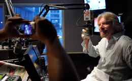 Sir Richard Branson started off his day with appearances on several radio shows, such as Virgin Radio's ' The Breakfast Show with Mad Dog and Billie' in Toronto.