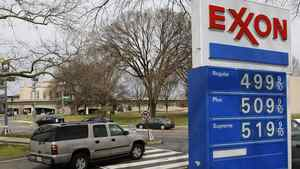 Gasoline prices are displayed at an Exxon station in Washington in this March 2, 2012 file photo.