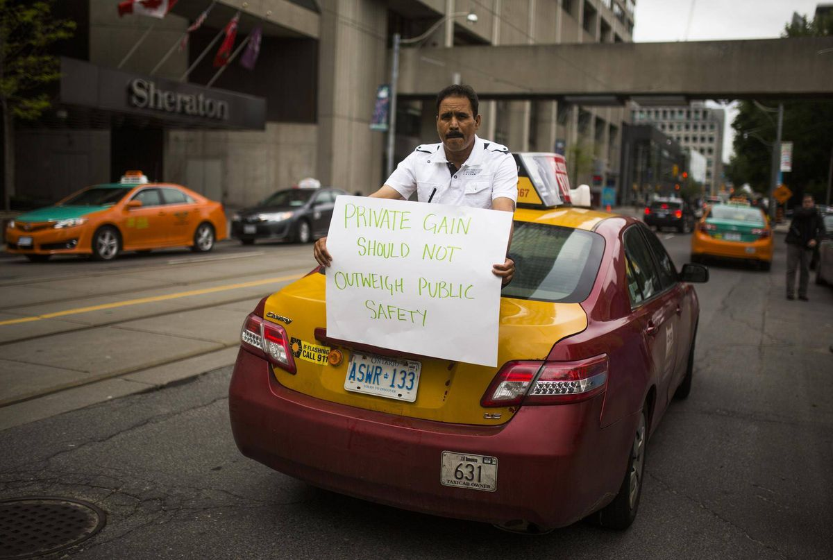 Taxi drivers threaten to strike over Uber in midst of