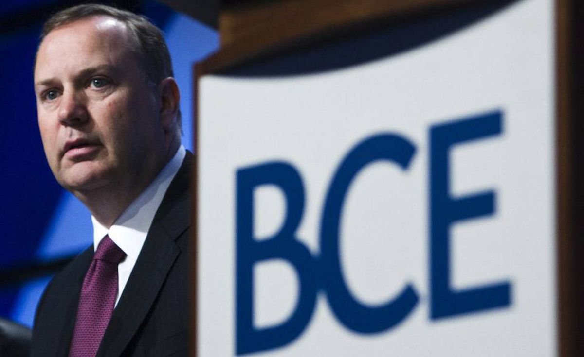 President and CEO of Bell Canada Enterprises (BCE) George Cope looks on before speaking during their annual general meeting in Toronto on Thursday, May 7, 2009. THE CANADIAN PRESS/Nathan Denette