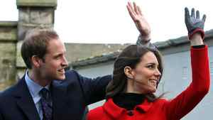 Britain's Prince William and Kate Middleton during a visit to St Andrews University in Scotland Friday on Feb. 25, 2011.