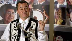 National Chief Shawn Atleo answers questions in Moncton, N.B., on July 12, 2011.