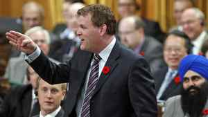 Foreign Affairs Minister John Baird speaks during Question Period in the House of Commons on Nov. 1, 2011.
