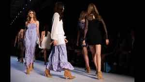 Models showcase designs by Little Joe Woman on the catwalk during Rosemount Australian Fashion Week Spring/Summer 2011/12 at Overseas Passenger Terminal on May 3, 2011 in Sydney