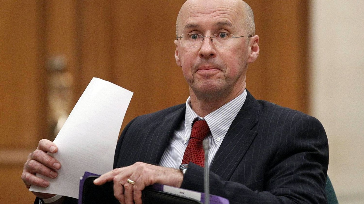 Parliamentary Budget Officer Kevin Page prepares to testify before a Commons committee on March 16, 2011.