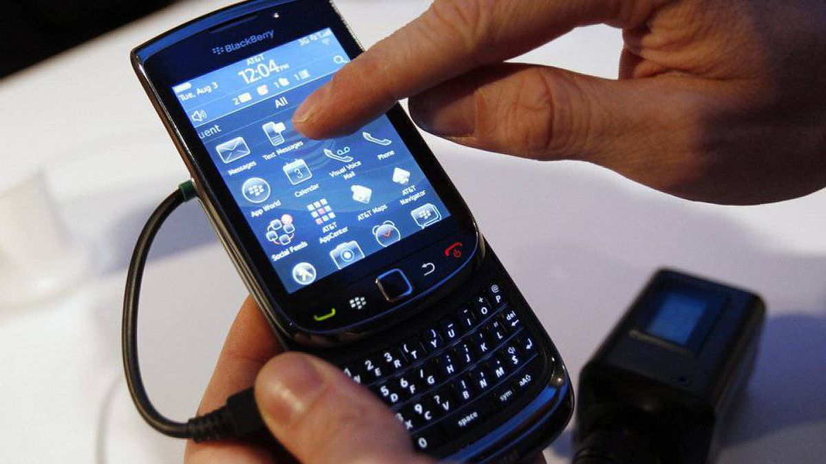 The BlackBerry Torch 9800 smartphone is introduced at a news conference in New York August 3, 2010. It launches in Canada Sept. 30.