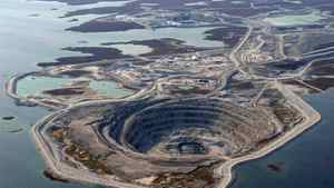 The Diavik mine from above: A remote northern mine is a test case for business, environment and innovation.