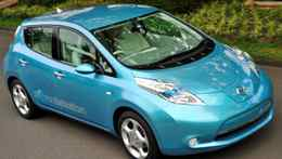 The Nissan Leaf electric car, which is to go on sale in Canada in 2011, uses lithium-ion batteries to provide about 160 kilometres of range in normal driving. -- Nissan Canada