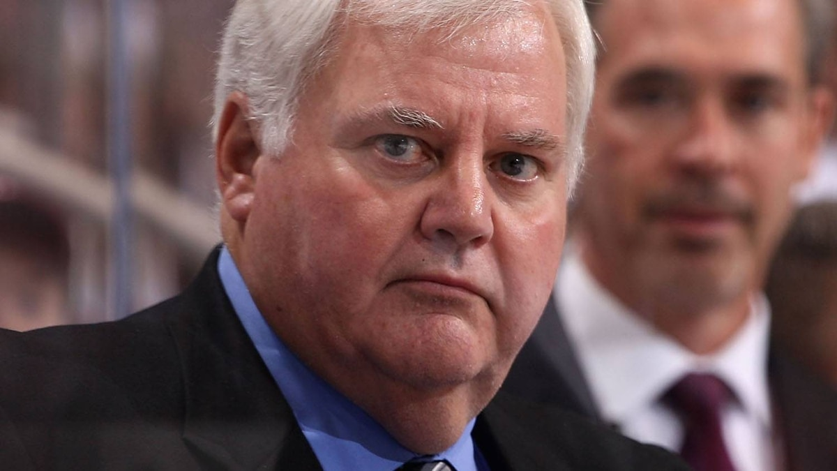 Head coach Ken Hitchcock of the Columbus Blue Jackets looks on during the NHL game against the Phoenix Coyotes at Jobing.com Arena on October 10, 2009 in Glendale, Arizona.