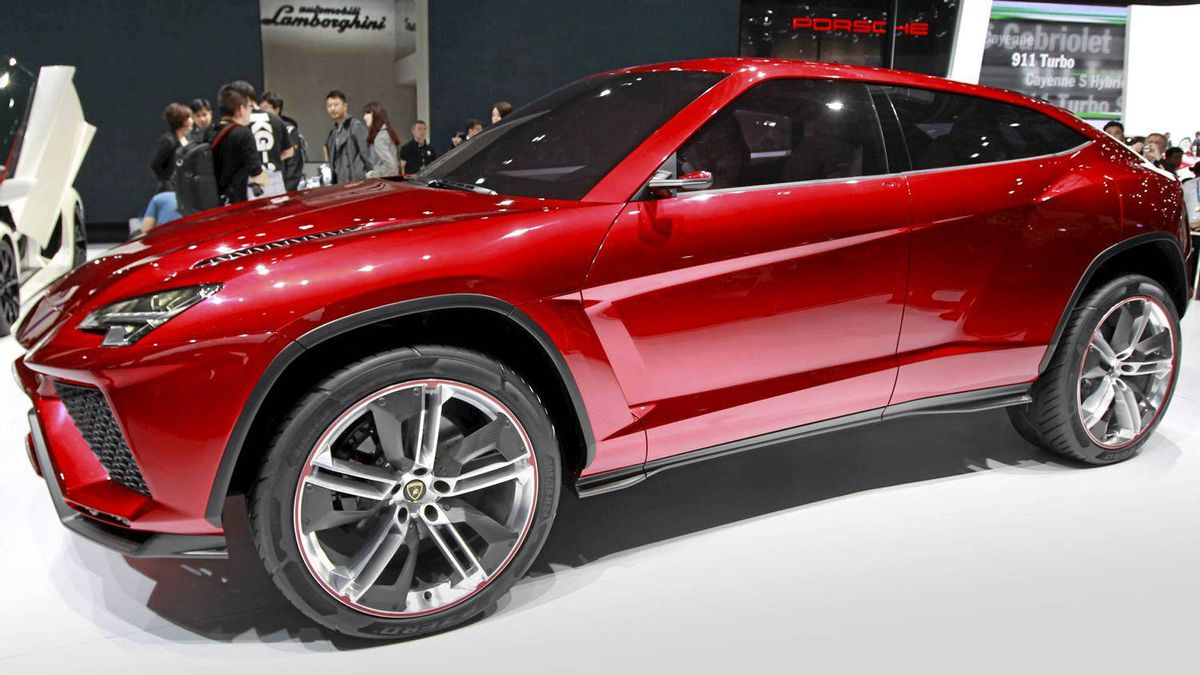 Lamborghini's latest SUV, Urus, on display in Beijing.