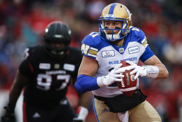 Chris Streveler takes over as Bombers' starter with Nichols on the shelf