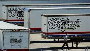 In this July 2004 file photo, Weston Bakery truck trailers sit idle at a George Weston Ltd. owned facility in Toronto.