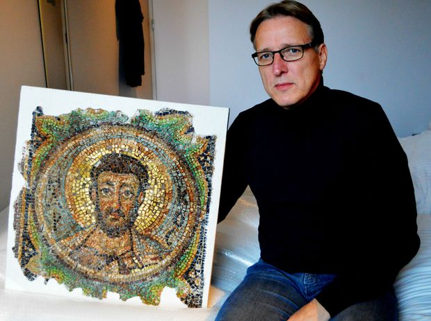 Rare 6th century mosaic of St. Mark returned to Cyprus more than 40 years after it was looted