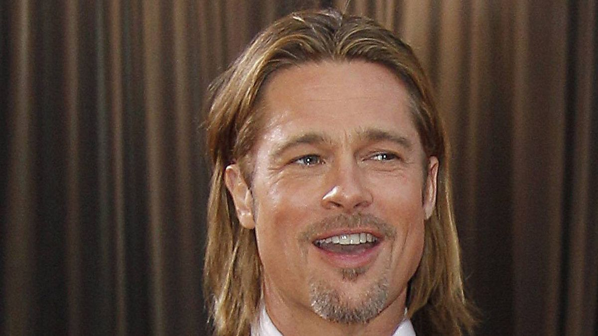 Brad Pitt arrives at the 84th Academy Awards in the Hollywood section of Los Angeles.
