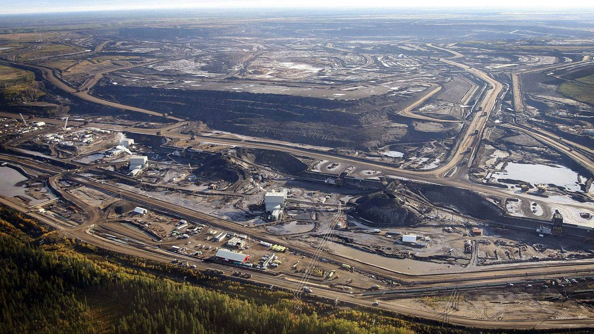This Sept. 19, 2011 aerial photo shows an oil sands mine facility near Fort McMurray, Alta.
