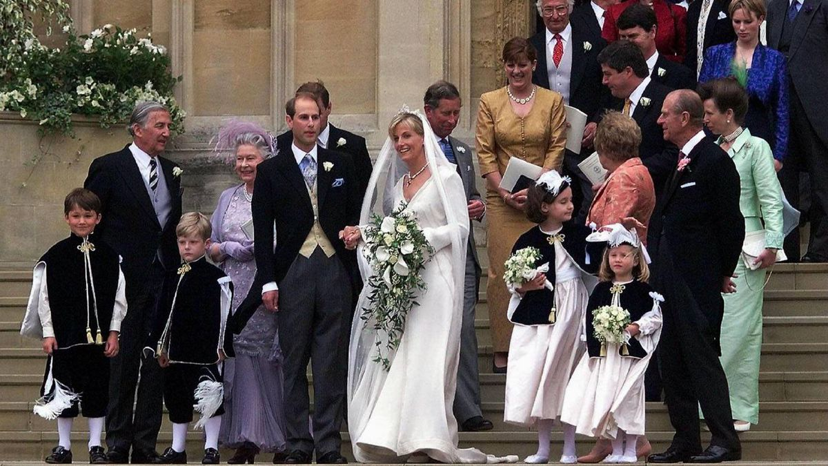 June 19, 1999: Prince Edward marries public relations executive Sophie Rhys-Jones and they become the Earl and Countess of Wessex.