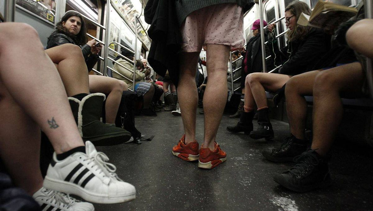 """Improv Everywhere comes up with original, creative ideas, such as its annual """"No Pants Subway Ride."""" Advertisers have openly copied several of the group's antics in marketing campaigns."""