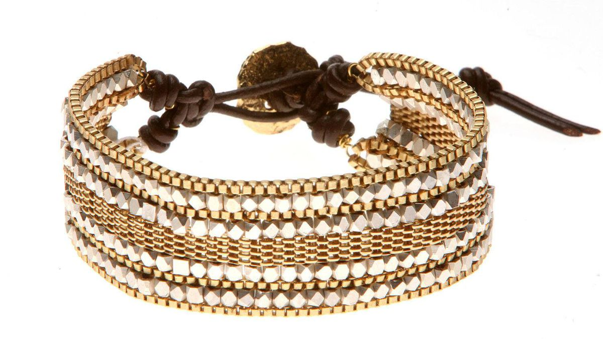 Fabrice gold bracelet, $245 through www.fabricetoronto.com.