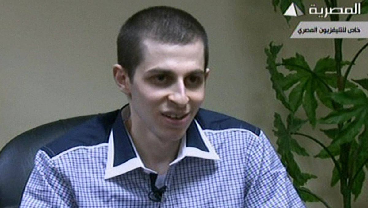 An image grab taken from Egyptian state TV shows Israeli soldier Gilad Shalit speaking during an interview at an undisclosed location in Egypt.