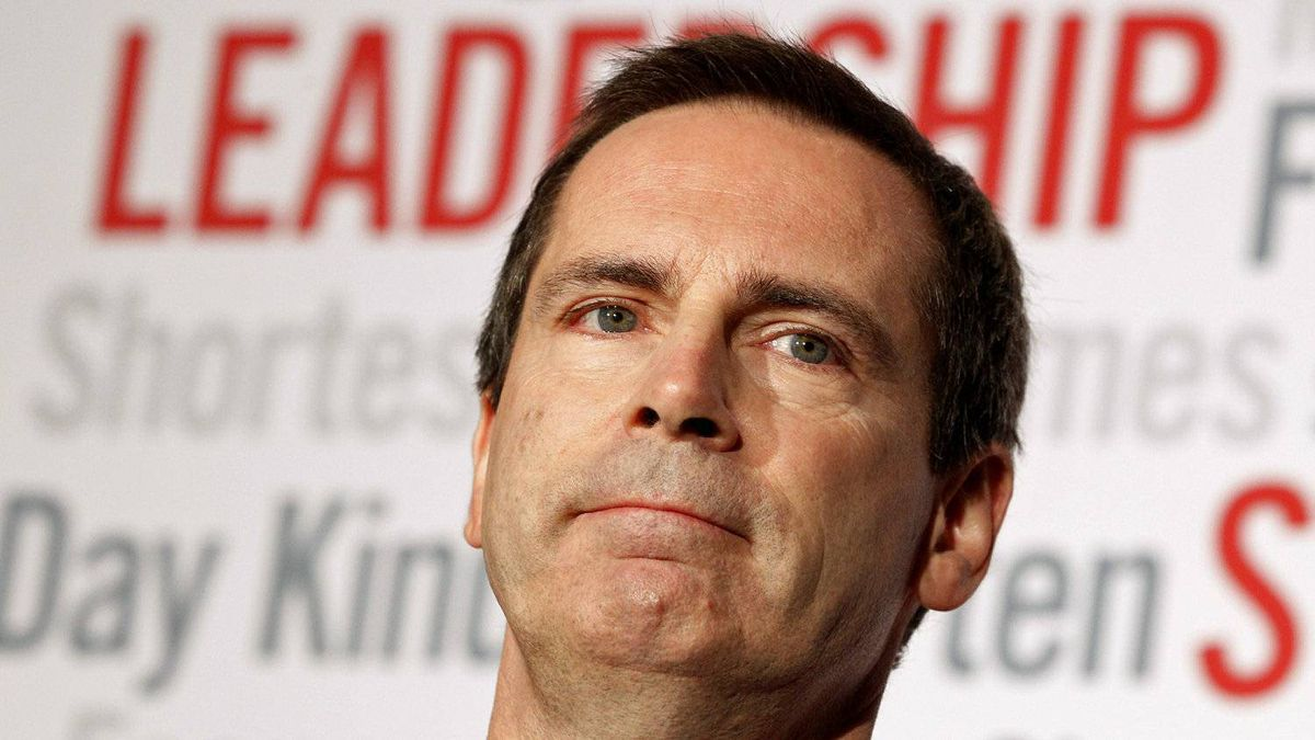 Premier Dalton McGuinty speaks at Ottawa's Chateau Laurier hotel on Oct. 7, 2011, after his Liberals were held to a minority government in Ontairo's election.