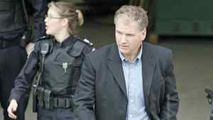 Former Toronto Maple Leafs captain Rob Ramage leaves a Markham, Ont., court in a 2008 file photo.