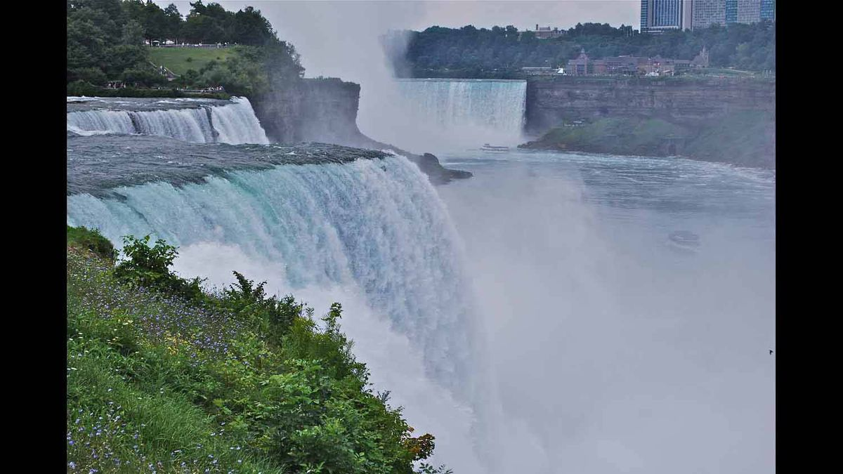 Experiencing Niagara's powerful falls from the U.S. side. September 2011
