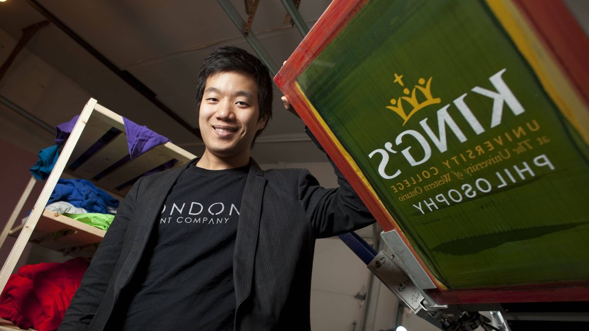 Hyunbin Lee, an immigrant from South Korea and University of Western Ontario student is also Finance Manager of London Print Company which he and his business partner run out of their home near campus in London, Ont.