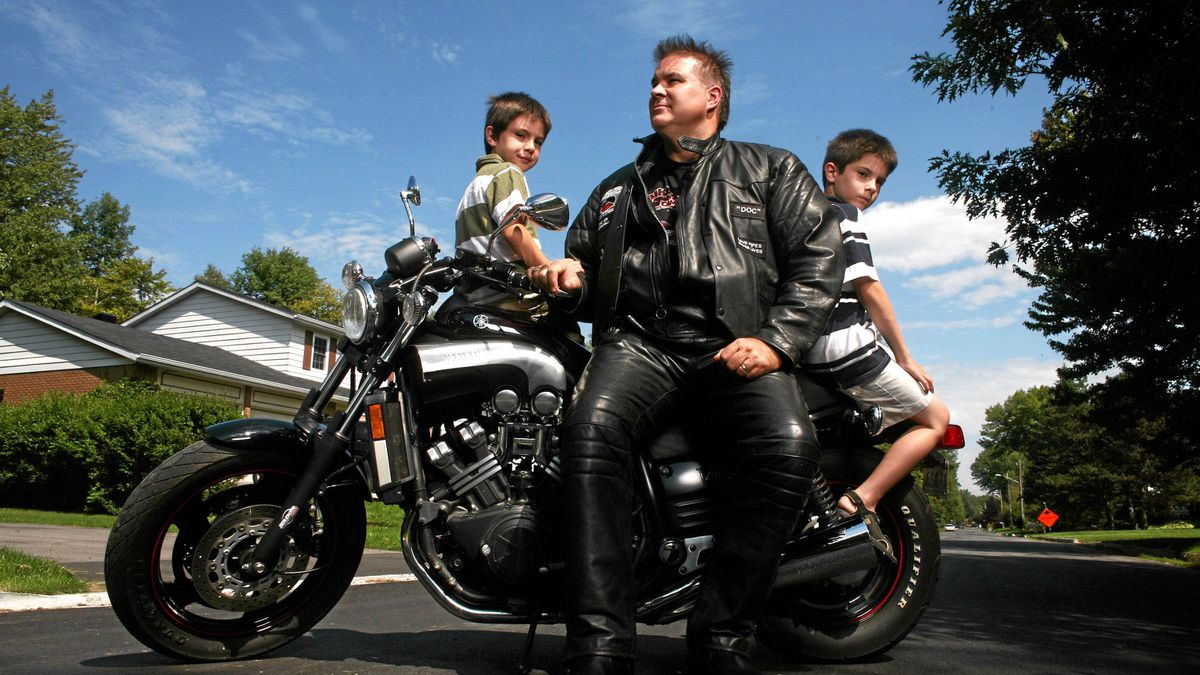 Paul Poirier with his sons Benny (L) and Zack (R).