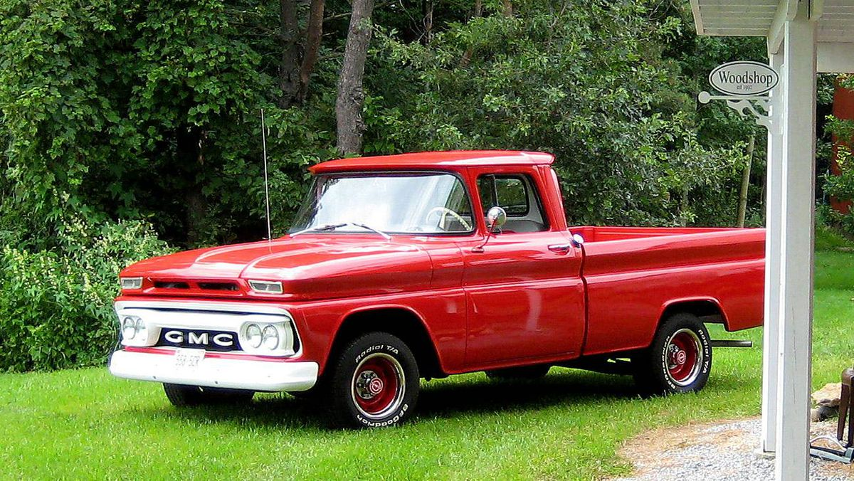 1962 GMC: Bought it when I was 15 and drove it around the farm. I've owned it for 32 years and still have it.