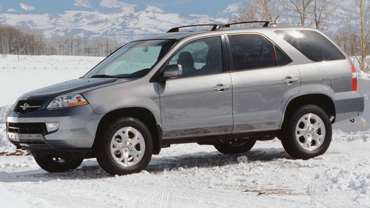 The 2001 MDX, Acura's benchmark for luxury SUVs.