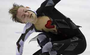 Sergei Voronov of Russia performs during his Men's Free skating at the ISU 2012 World Figure Skating Championships in Nice, southern France, Saturday, March 31, 2012.