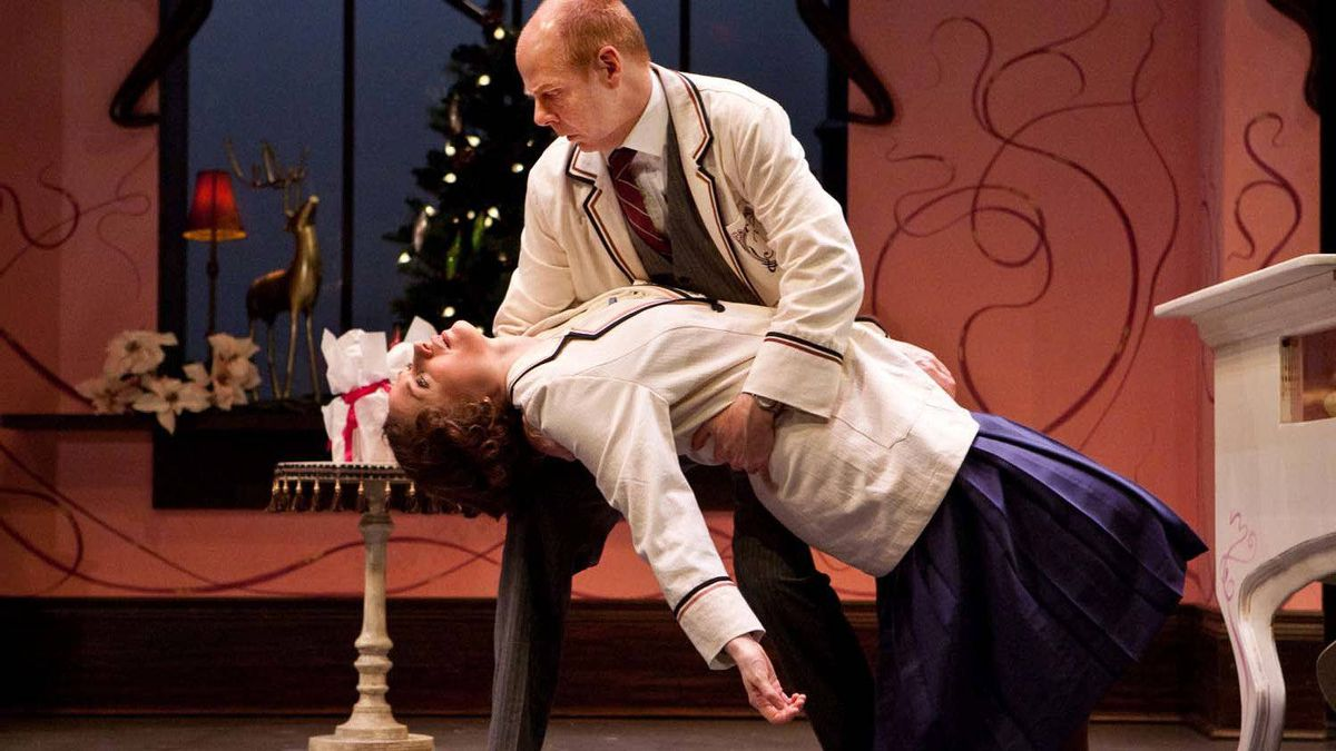 "Patricia Fagan and Oliver Dennis in Soulpepper's ""Parfumerie"""