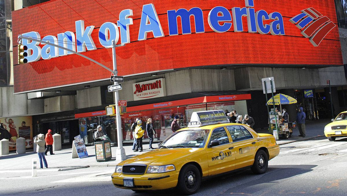 A Bank of America branch in New York