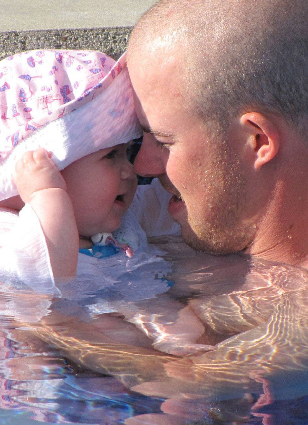 My first swimming date with my Daddy!