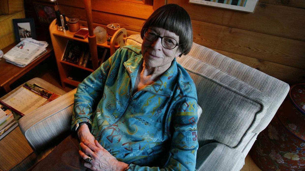 Novelist Jane Rule in her home on Galiano Island, BC, in 2007