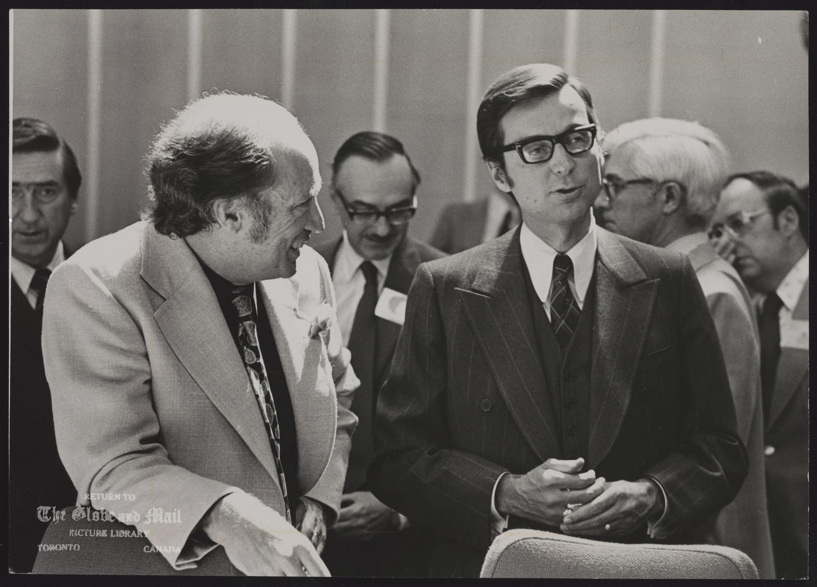 FEDERAL PROVINCIAL PRIME MINISTERS CONFERENCE (Prime Minister Pierre Trudeau listens to Quebec Premier Robert Bourassa.)