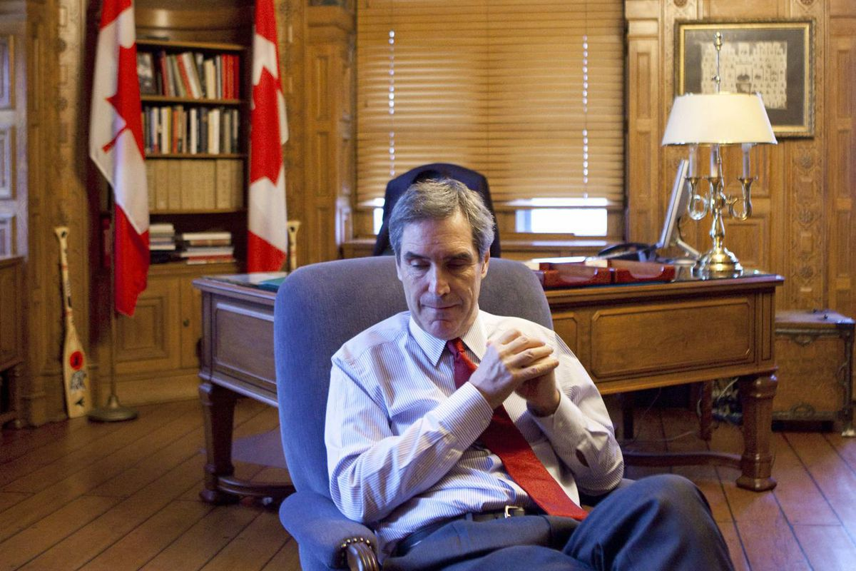 Liberal Leader Michael Ignatieff pauses during an interview with The Globe and Mail in his Parliament Hill office on Oct. 6, 2009.