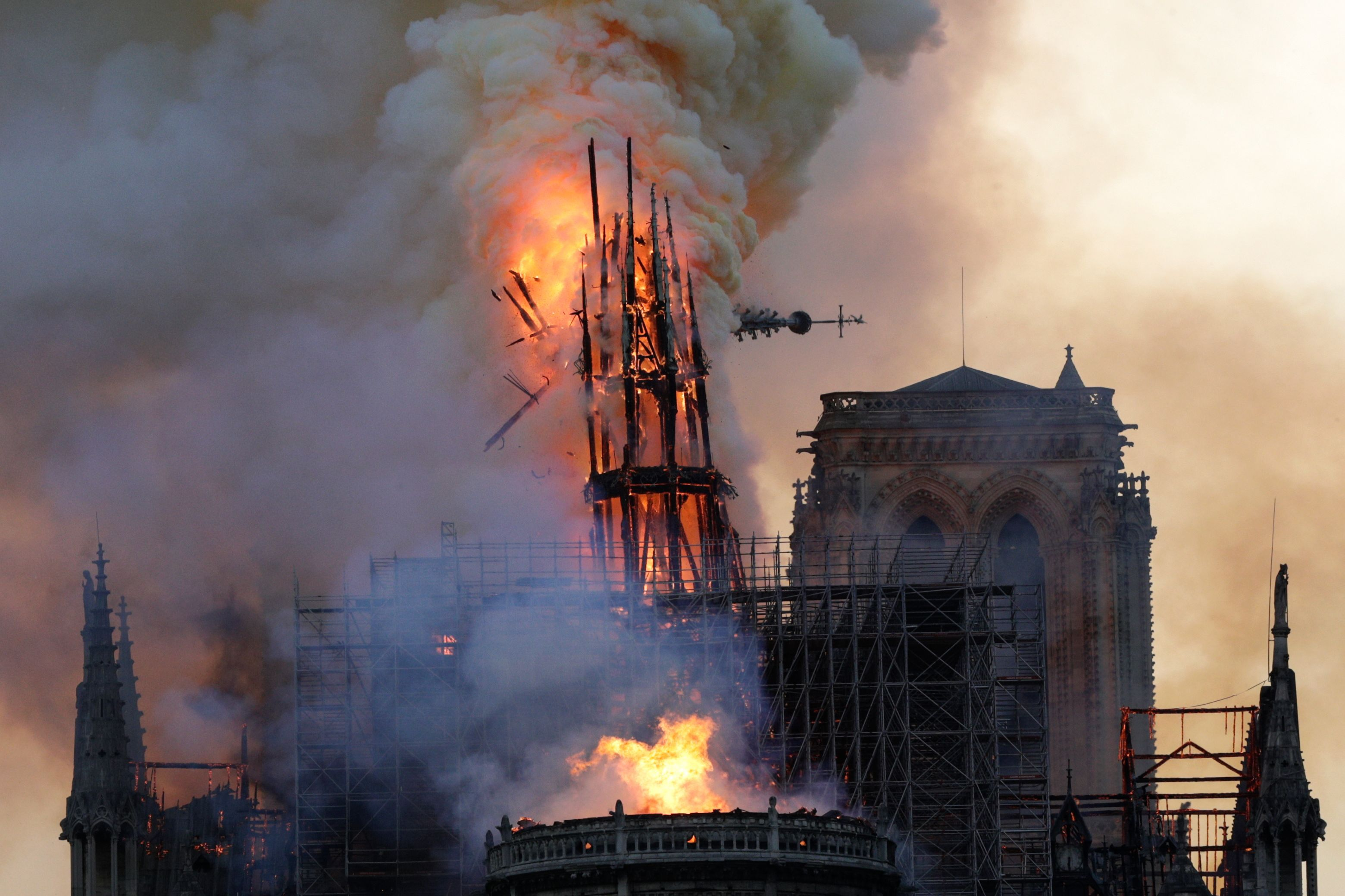 Fire engulfs Paris' Notre-Dame Cathedral, but main structure saved