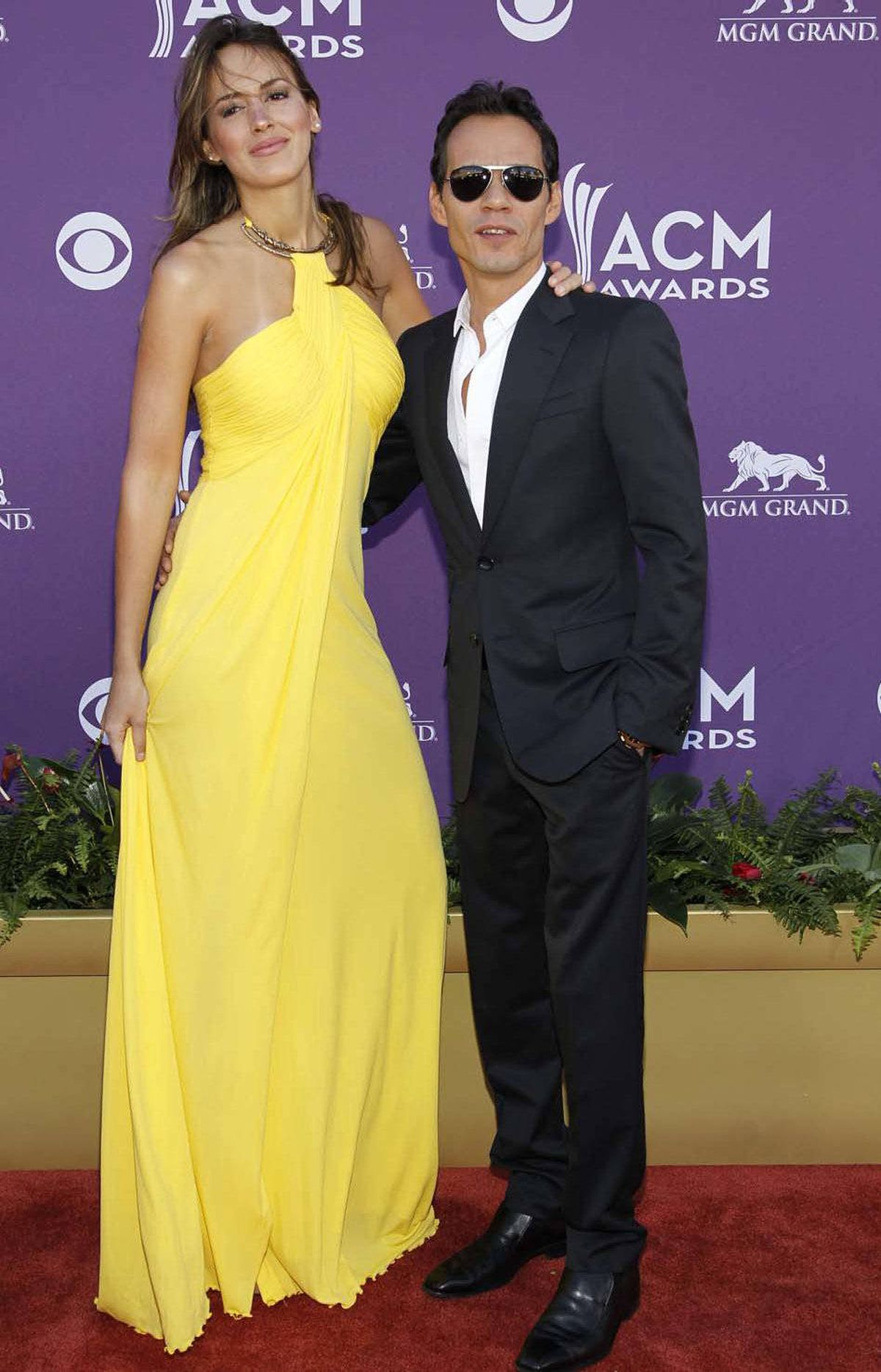 So, Marc Anthony at the Academy of Country Music Awards in Las Vegas on Saturday, how's the single life treating you?