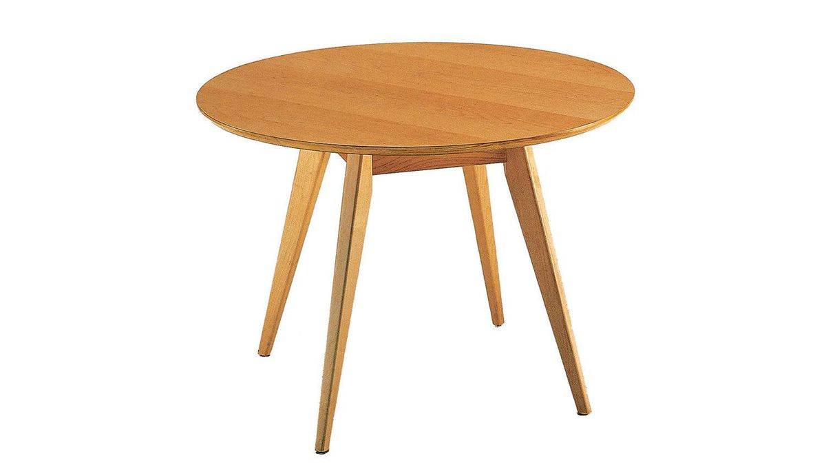 The Risom Round Dining Table, originally designed by Jens Risom for Knoll in 1941, is a classic example of understated Scandinavian design. Available in solid walnut or maple hardwood. From $1,160 through www.knoll.com.