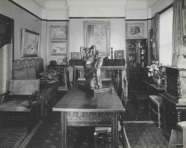 Front room, Claribel Cone's apartment (8B), Marlborough Apartments, Baltimore, Maryland, 1941. Dr. Claribel and Miss Etta Cone Papers, Archives and Manuscripts Collections, The Baltimore Museum of Art.