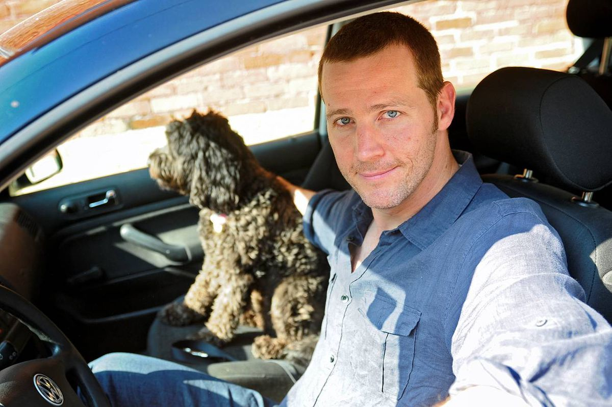Sept. 3/ 2009 - Actor Graham Abbey is photographed with his Volkswagon Golf in Toronto, Ont. Sept. 3/2009. Photo by Kevin Van Paassen/The Globe and Mail Sept. 3/2009