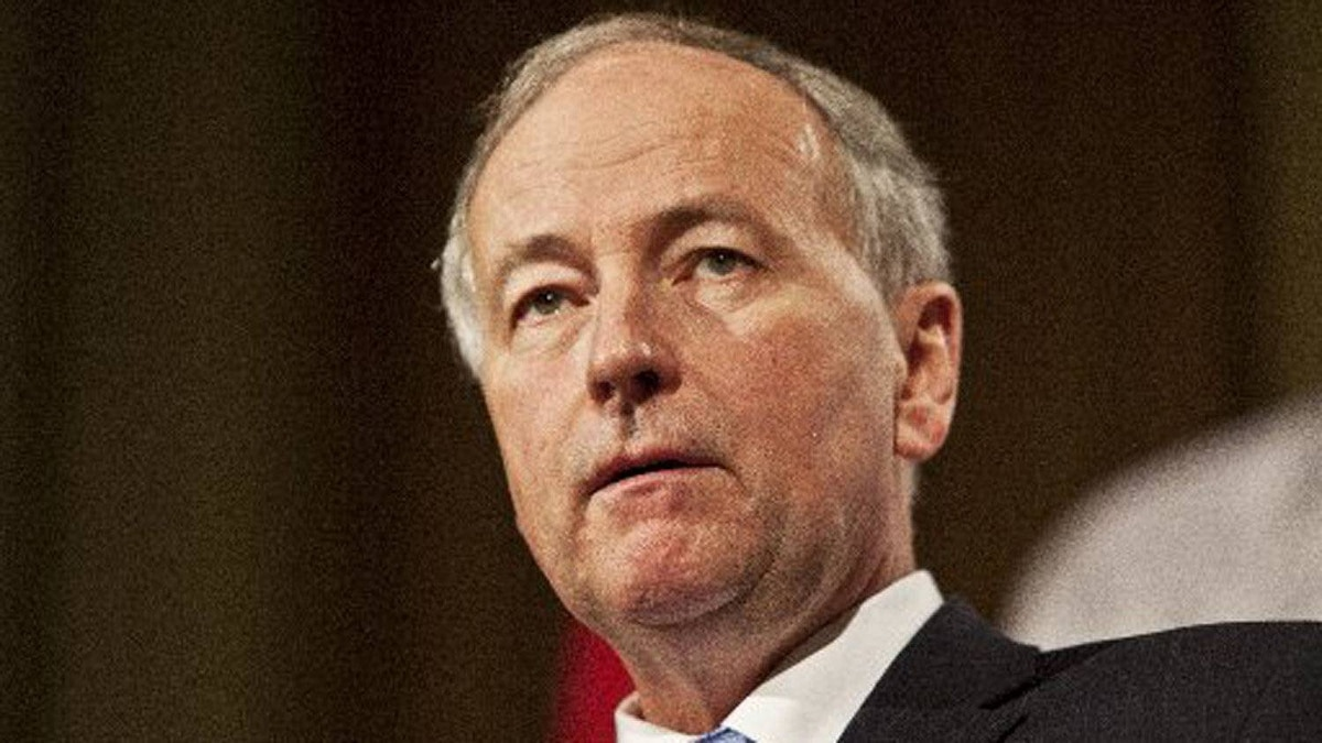 Minister of Justice Rob Nicholson speaks at a luncheon in Toronto at the Royal York Hotel on Jan. 13, 2012.