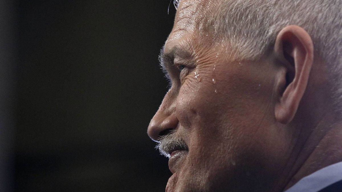 NDP Leader Jack Layton is interviewed following the tabling of the federal budget on Parliament Hill in Ottawa. Chris Wattie/Reuters