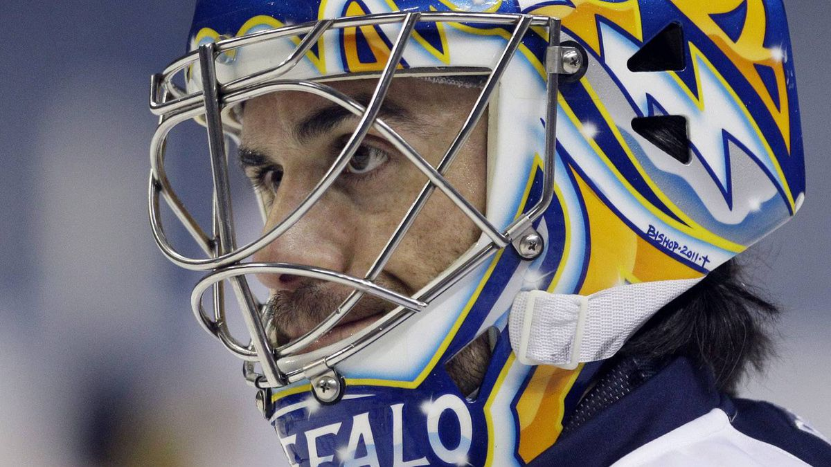 Could the Buffalo Sabres' Ryan Miller be heading to the Windy City in a deal for Patrick Kane? (AP Photo/David Duprey)