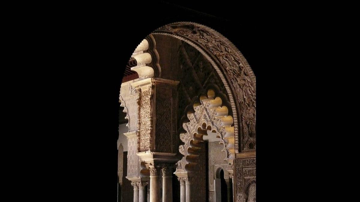 Ken Falk photo: Arches, El Alhambra, Granada, Spain - Inside El Alhambra 2007