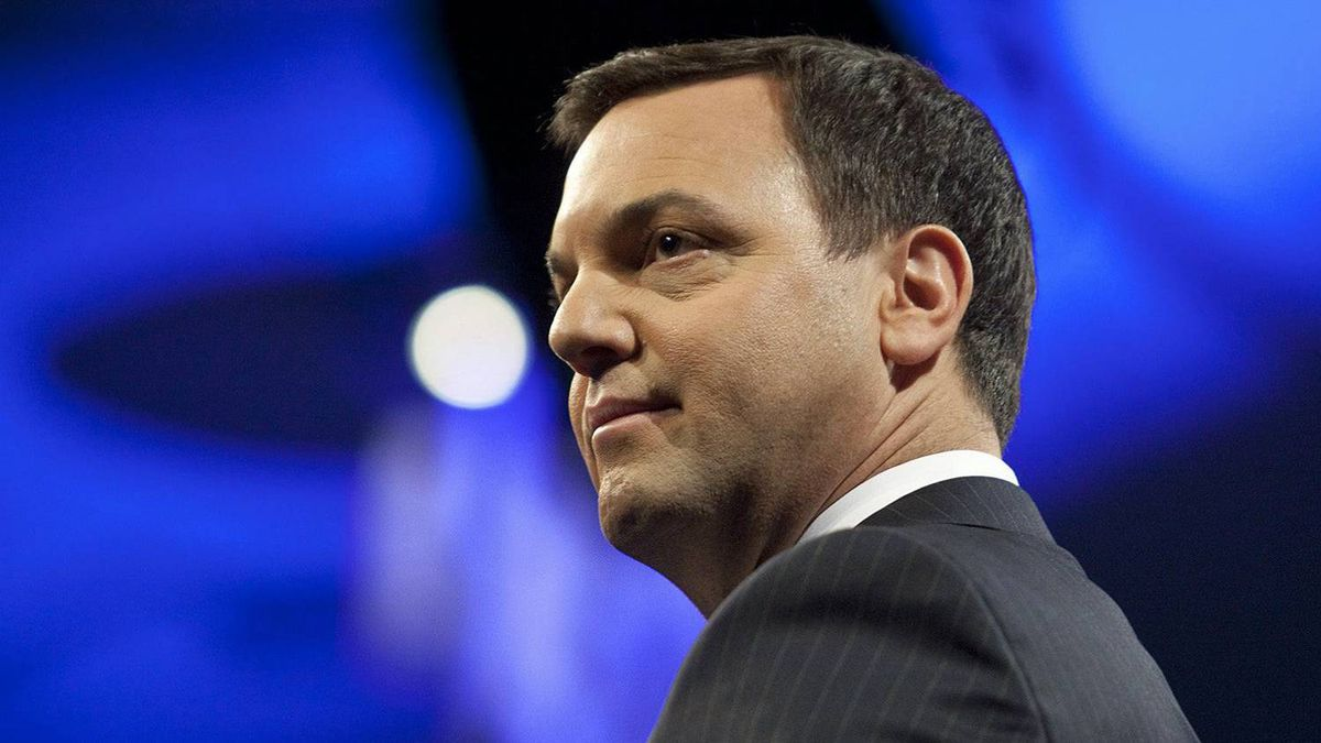 Ontario Progressive Conservative Leader Tim Hudak delivers a keynote speech to his party's convention in Niagara Falls on Feb. 11, 2012.
