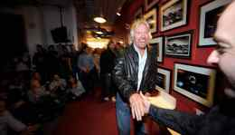 Sir Richard Branson takes part in a Virgin Mobile in-house event in downtown Toronto where awards were handed out to employees.